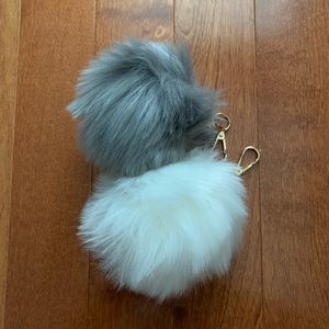 Accessories - Two faux fur keychain